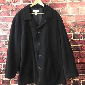 J crew extra large wool blend coat jacket black